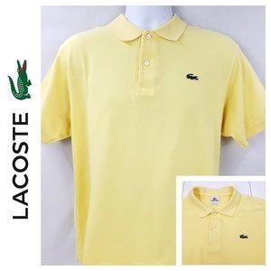 Lacoste Men's Polo Shirt Size 5 - Large Yellow C